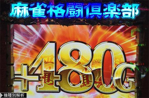 麻雀格闘倶楽部スロット+480G