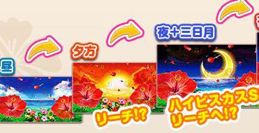 スーパー海物語IN沖縄4 ハイビスカスモード 時間帯変化予告