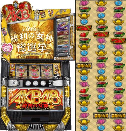 ぱちスロAKB48 勝利の女神ぱちスロAKB48 勝利の女神 リール